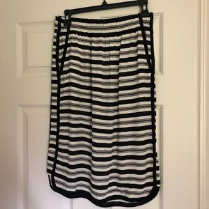Loft Striped Skirt